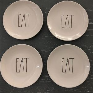 Rae Dunn Salad Plates - Eat (4)